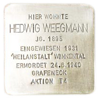 Mergentheimer Straße 7, Stolperstein verlegt am 30. April 2010.